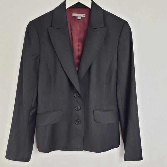Ann Taylor Jackets & Blazers - Ann Taylor Dark Gray Pinstripe 3 Button Blazer